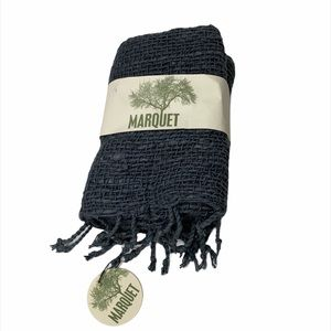 NWT Marquet Charcoal Free Weave Scarf